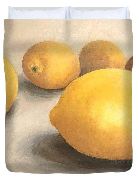 Five Lemons  Duvet Cover