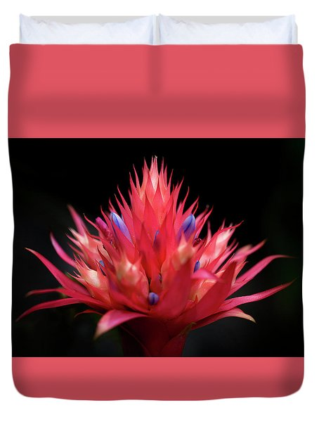 Flaming Flower Duvet Cover