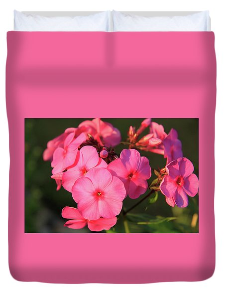 Flaming Pink Phlox Duvet Cover