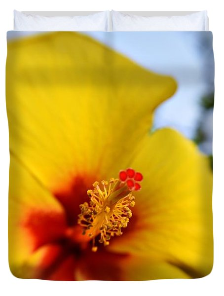 Flaming Stamen Stigma 2 Duvet Cover