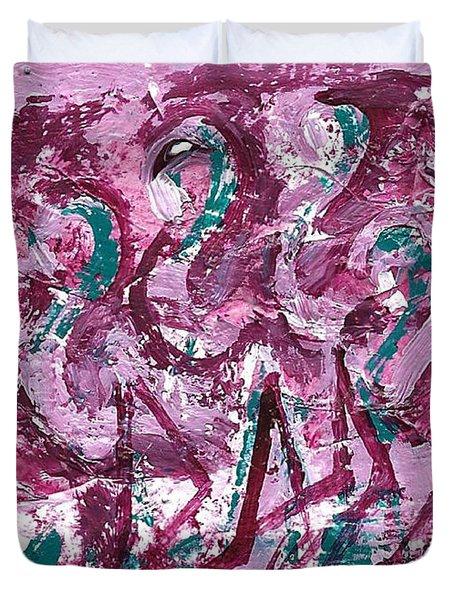 Flamingo Expression Duvet Cover