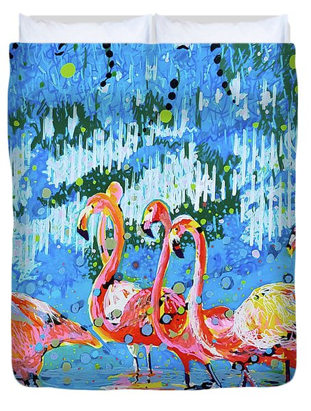 Flamingo Pat Party Duvet Cover