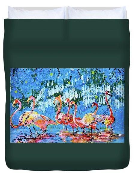 Flamingo Pat Party Duvet Cover