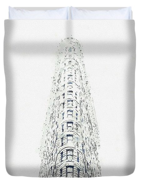Flatiron, New York, United States -  Watercolor By Adam Asar Duvet Cover