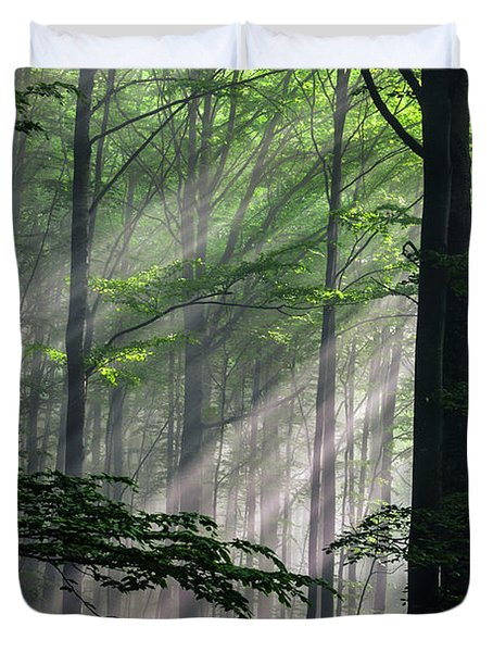 Fleeting Beams Duvet Cover