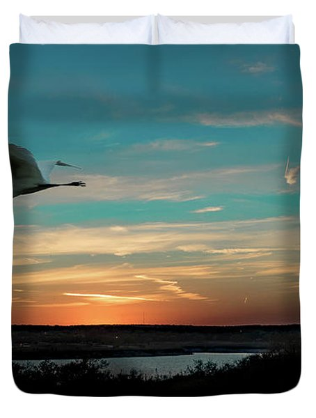 Flight To The Lake Duvet Cover