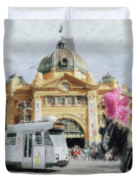 Flinders Street Station, Melbourne Duvet Cover
