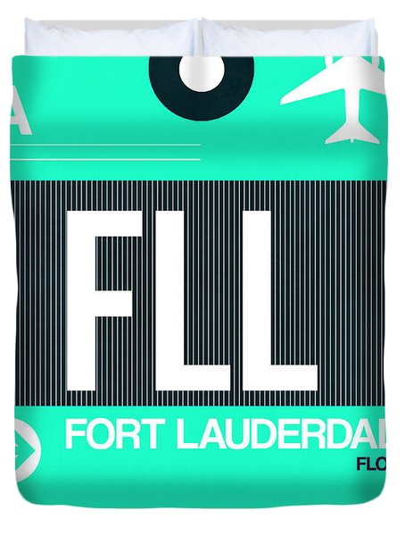 Fll Fort Lauderdale Luggage Tag II Duvet Cover