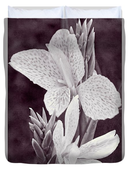 Duvet Cover featuring the photograph Floral Memories II by Leda Robertson