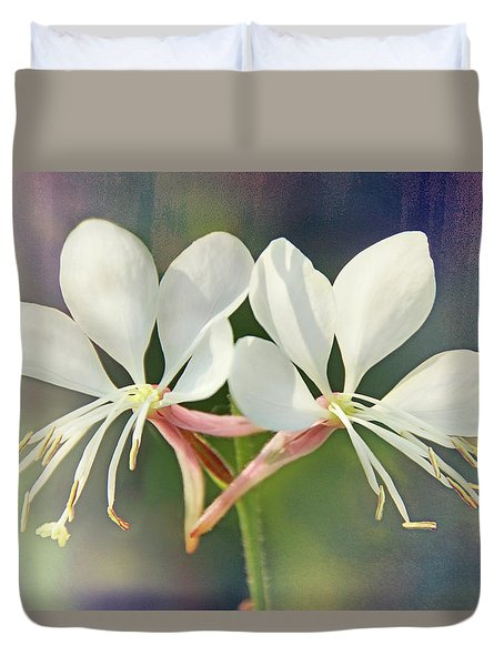 Duvet Cover featuring the photograph Floral Palette I by Leda Robertson