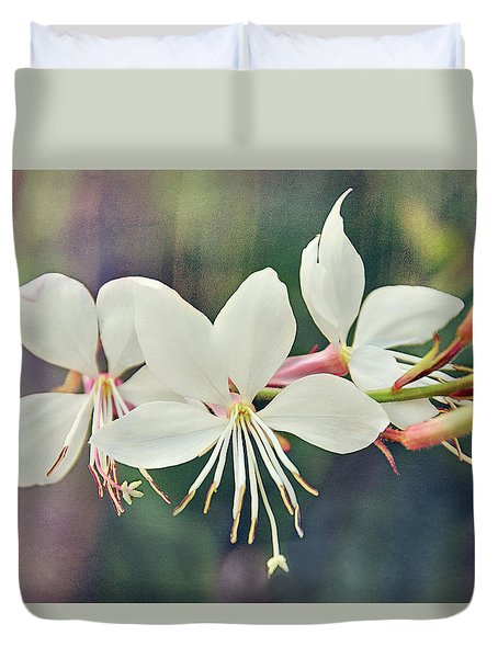 Duvet Cover featuring the photograph Floral Palette II by Leda Robertson