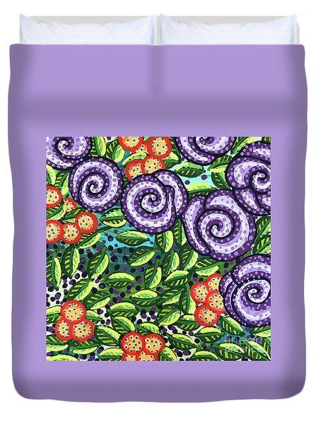 Floral Whimsy 11 Duvet Cover