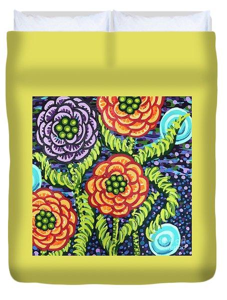 Floral Whimsy 5 Duvet Cover