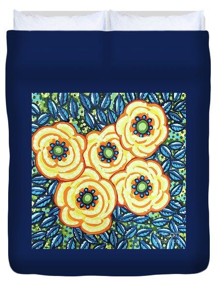 Floral Whimsy 7 Duvet Cover