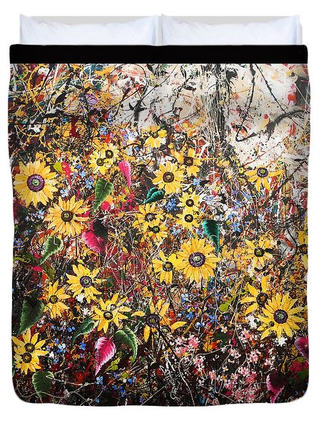 Flourish Panel One Duvet Cover