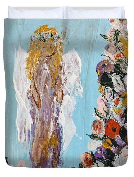 Flower Child Angel Duvet Cover
