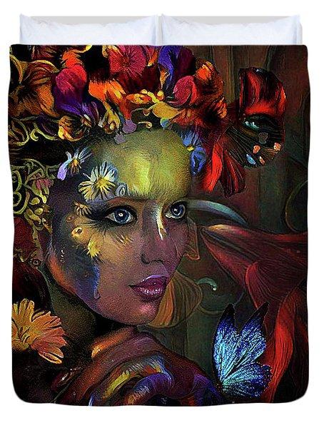 Flower Girl 0078 Duvet Cover