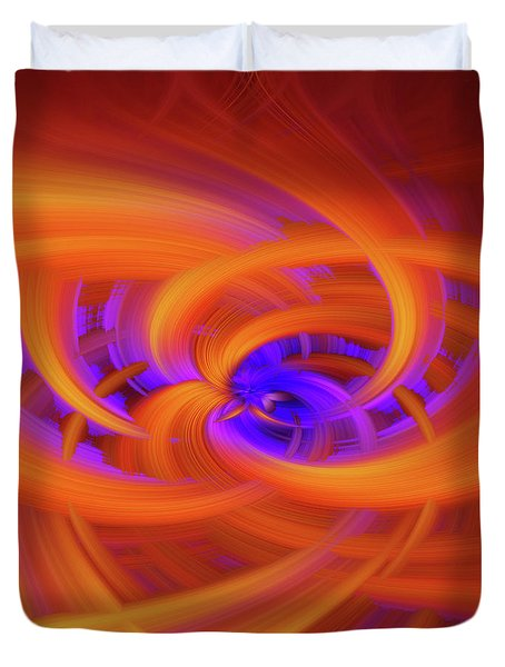 Flower Power Abstract Duvet Cover
