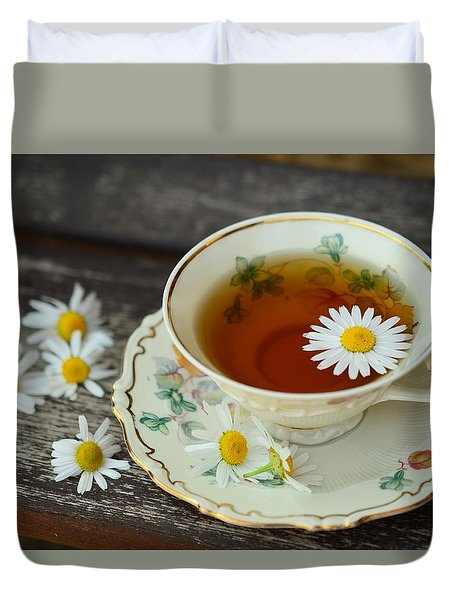 Flower Tea Duvet Cover