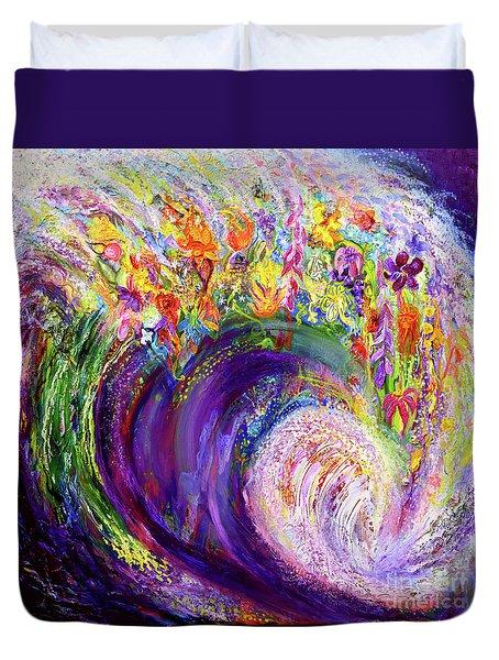 Flower Wave Duvet Cover
