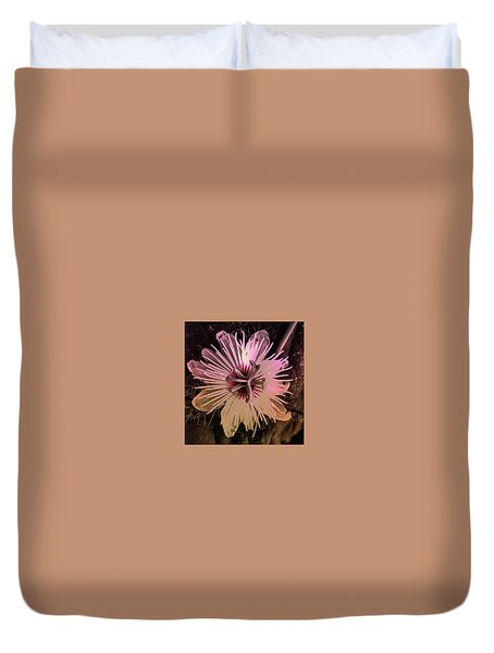 Flower With Tentacles Duvet Cover