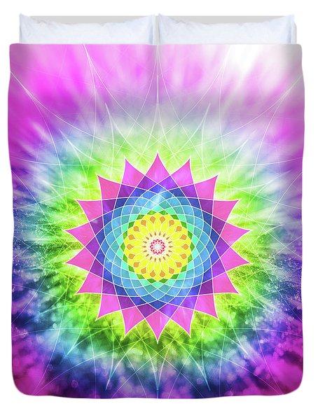 Flowering Mandala Duvet Cover