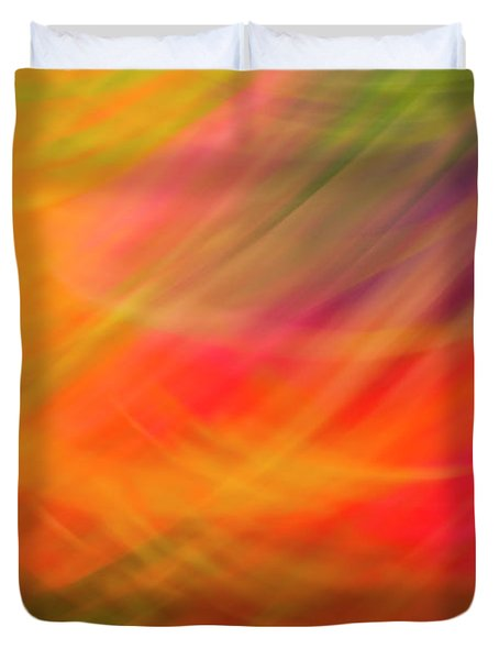 Flowers In Abstract Duvet Cover