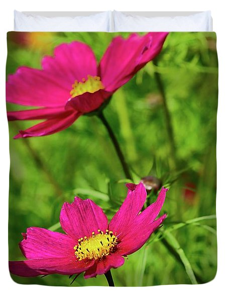 Flowers In The Gardens At Scone Palace Duvet Cover