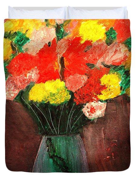 Flowers Still Life Duvet Cover