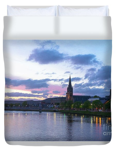 Flowing Down The River Ness Duvet Cover