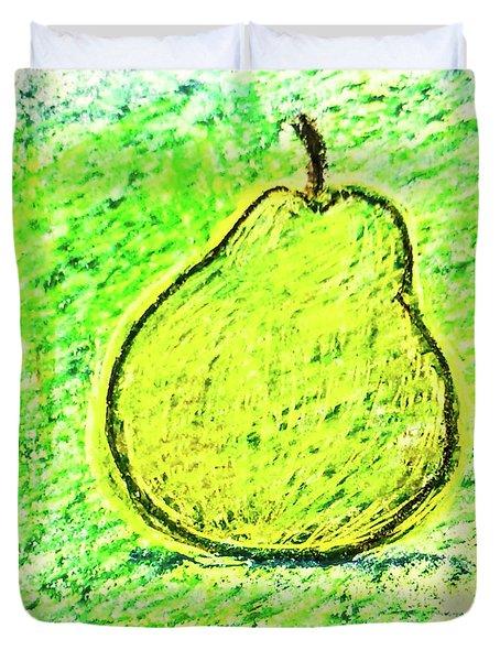 Fluorescent Pear Duvet Cover