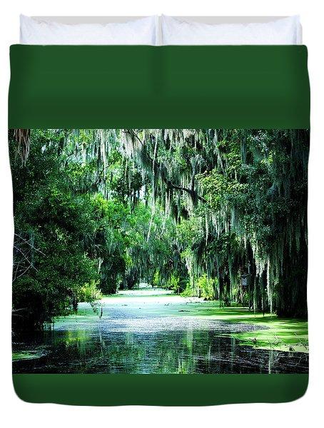 Flush With Green Duvet Cover