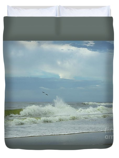 Fly Above The Surf Duvet Cover