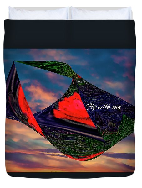 Fly With Me Duvet Cover