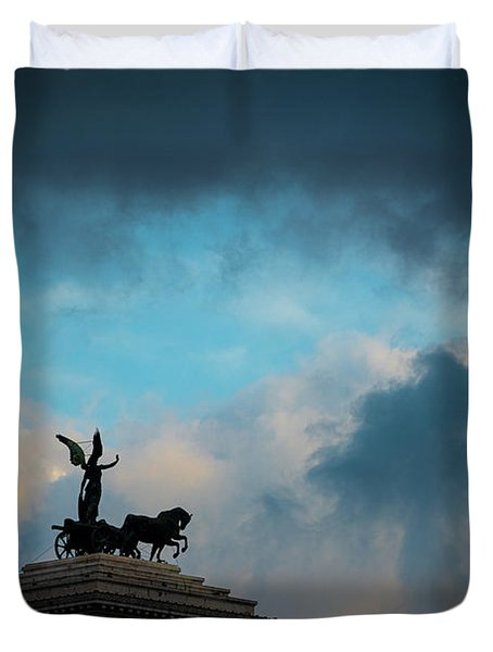 Flying Through The Clouds Duvet Cover