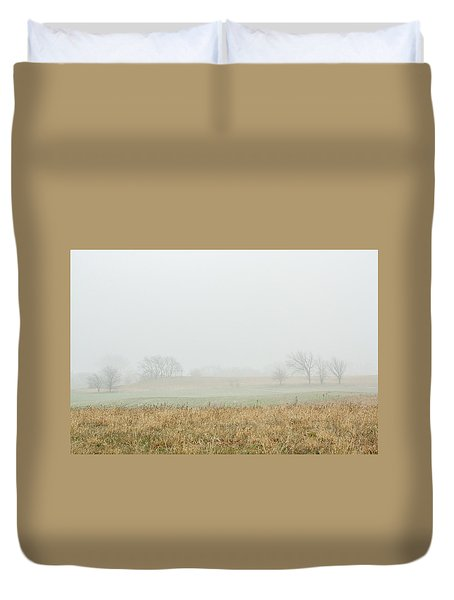 Foggy Country Morning Duvet Cover