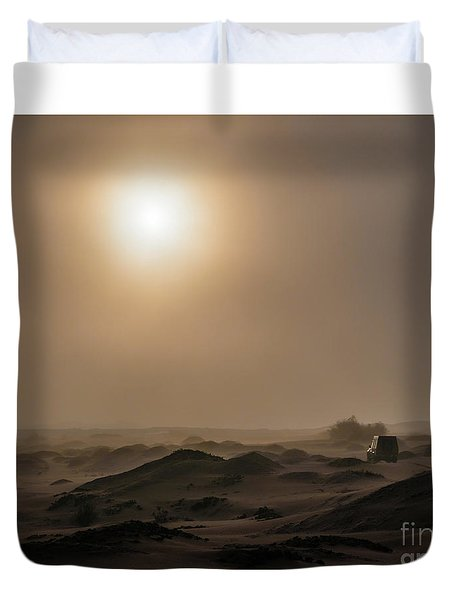 Foggy Morning In The Namib Desert Duvet Cover