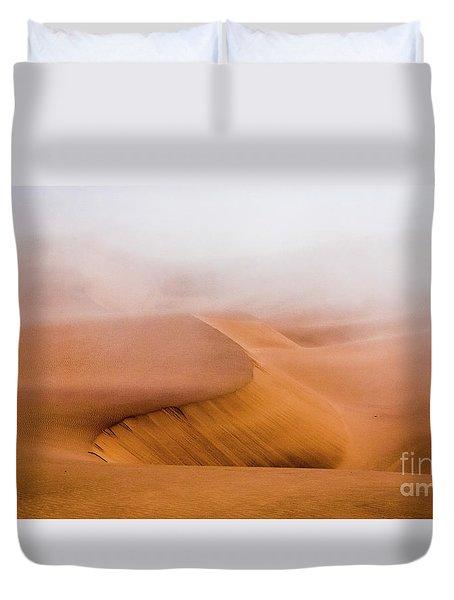 Foggy Namib Desert Duvet Cover