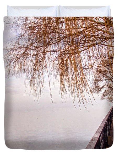 Foggy Niagara Duvet Cover