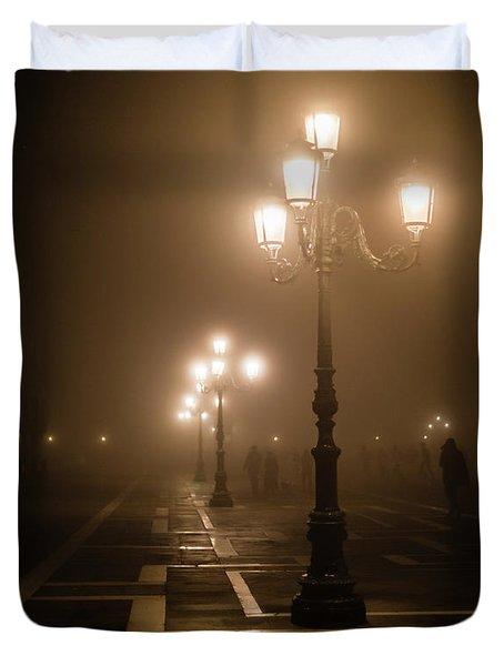 Foggy Piazza San Marco, Venice Duvet Cover