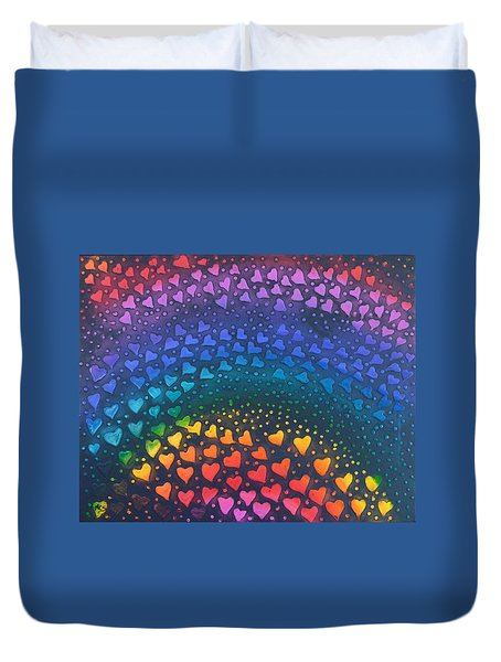 Follow Your Heart To Happiness Duvet Cover