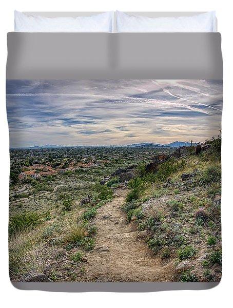 Following The Desert Path Duvet Cover
