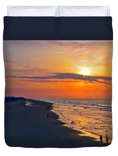 Folly Beach Sunrise Duvet Cover