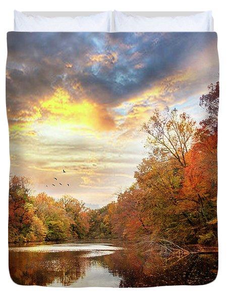 For The Love Of Autumn Duvet Cover