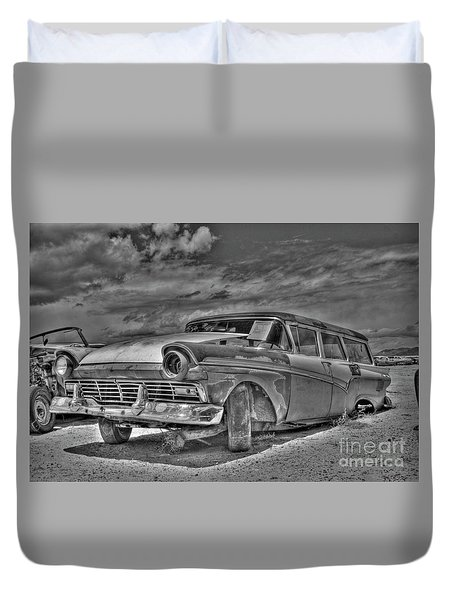 Ford Country Squire Wagon - Bw Duvet Cover