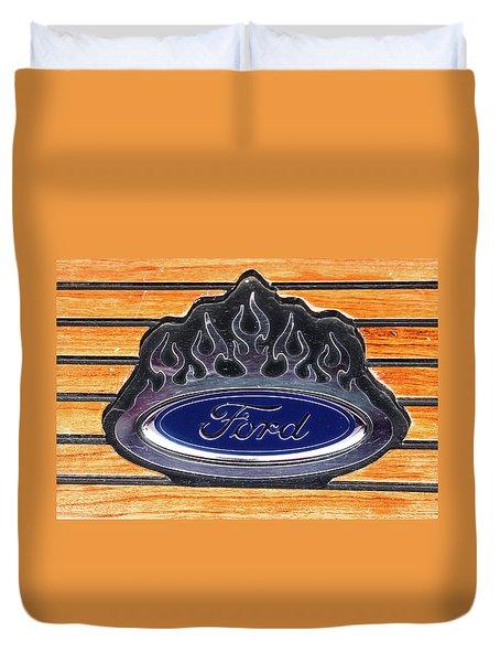 Ford Fire Duvet Cover