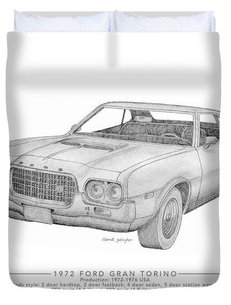 Ford Gran Torino Duvet Cover
