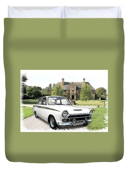 Ford 'lotus' Cortina Duvet Cover