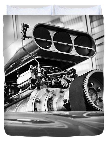 Ford Mustang Vintage Motor Engine Duvet Cover