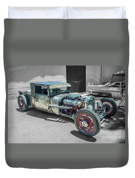 Ford Rat Rod Duvet Cover